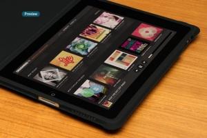 平板APP应用界面设计演示样机模板 Black iPad Tablet App UI Mock-Up插图15