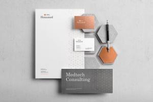 六边形图形设计品牌VI视觉设计效果图样机套件v1 Hexamed Branding Mockup插图2