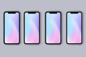 iPhone 11 Pro官方配色手机样机模板 New iPhone 11 Pro Mockup – All Colors插图1