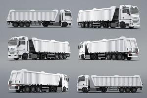 半挂车半挂卡车外观喷漆图案样机模板 Trucks Mock-Up插图11