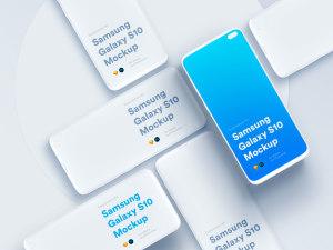 三星智能手机S10超级样机套装 Samsung Galaxy S10 Mockups插图52