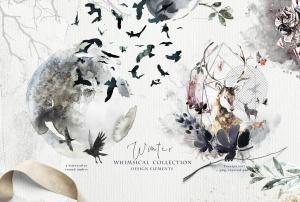 """高品质梦幻水彩矢量插画素材大合集[1.88GB] Fantasy illustrations """"Once in the dream""""插图13"""