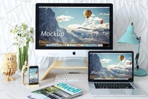 Apple硬件设备样机模板合集 imac iphone macbook – mockup插图2