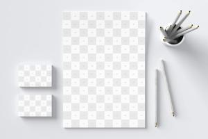 高逼格品牌VI设计预览图办公用品样机02 Stationery Mockup 02插图4