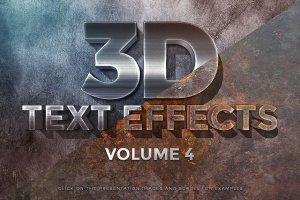 一流设计素材网下午茶:150款3D文字效果的PS图层样式 150 3D Text Effects for Photoshop–2.61 GB插图45