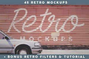 45款新西兰取景复古Logo&字体样机模板 45 Retro Mockups (+BONUS)插图1