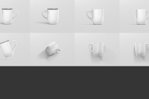 圆形光泽马克杯外观设计样机 Mug Mockup – Rounded插图13