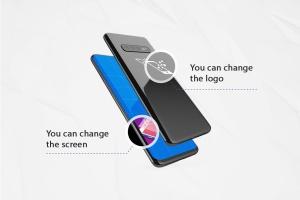 三星智能手机S10移动应用UI设计预览样机 S10 Kit MockUp插图2