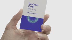 手持企业品牌名片视觉设计样机模板 Business Card Hand Mockup插图2