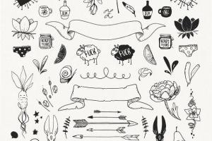 手绘装饰设计元素工具包[手绘图案+水彩样式+图形] The Hip Decorative Toolkit插图5