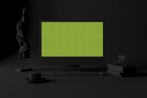 酷黑办公场所MacBook Pro设备样机 Dark Mac Pro插图11
