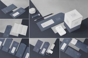 6款企业品牌VI设计展示信封&信纸样机模板 6 Envelope & Letter Mockups插图1
