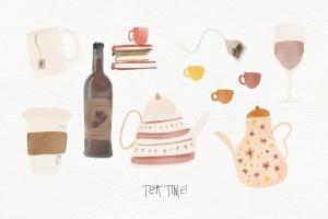 秋天主题水彩手绘图案设计素材包 Autumn Watercolor Kit插图11
