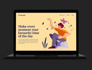 一流设计素材网下午茶:充满活力的矢量插画素材下载[PSD]插图(6)