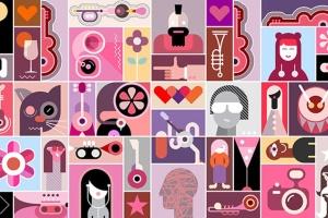 摇滚音乐主题矢量插画海报设计素材 Concert Poster design vector illustration插图2