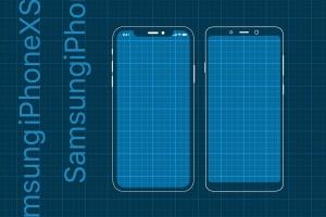 iPhoneXS&三星手机网页&APP应用原型设计展示样机模板 iPhoneXS and Samsung Prototype mockup插图1