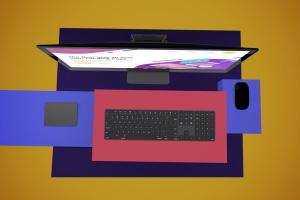 一体机电脑iMac Pro屏幕演示样机模板v2 iMac Pro Mockup V.2插图6