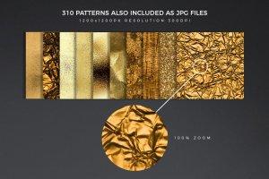 300+金光闪闪金箔图层样式 300+ Gold Glitter Foil Styles插图15