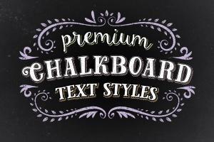 100+黑板画粉笔字效果PS字体样式 Premium Chalk Text Styles插图1
