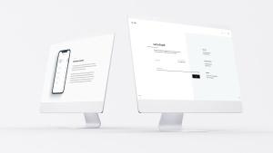 网站UI界面设计效果图预览白色iMac电脑样机模板 White iMac Mockup插图13