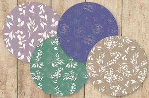 腮红色水彩手绘叶子图案剪贴画PNG素材 Blush Foliage Clip Art Bundle插图7