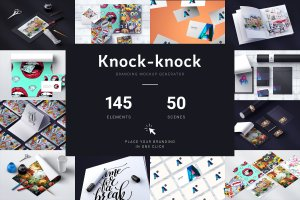 超大容量品牌样机集合 Knock-knock Mockups(3.36GB)插图1
