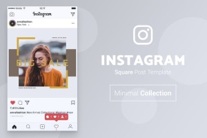 品牌服装Instagram品牌故事设计模板 NICHA Instagram Post插图2