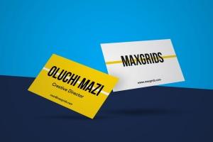 简约企业名片设计样机模板01 Business Card Mockup 01插图1