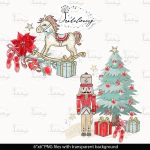 圣诞节胡桃夹子矢量手绘设计素材 Christmas Nutcracker design插图3
