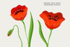 彩色粉笔蜡笔画Procreate专用笔刷 Texturrific Pastels for Procreate插图3
