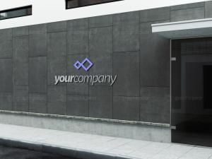 公司建筑Logo标志设计效果图样机模板 Company Building Sign Mockup插图3