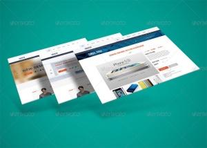 网站界面设计截图3D预览样机模板v3 3D Web Presentation Mockup (V3)插图3