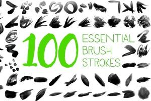100种自然元素图案PS画笔笔刷 100 Essential Brush Strokes插图(1)