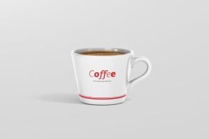 高品质的咖啡马克杯样机展示模板 Coffee Cup Mockup – Cone Shape插图10