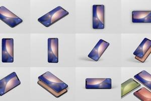 高品质的iPhone XS Max智能手机样机模板 Phone XS Max Mockup插图15