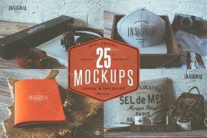 25个高分辨率Logo设计展示样机 25 Hip Logo Overlay Mock-Ups插图1
