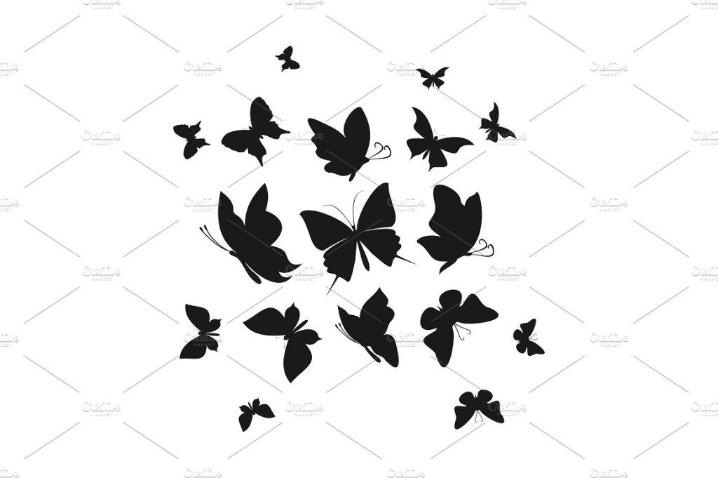 一群抽象飞舞的蝴蝶6  Abstract the butterfly6插图