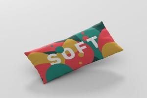 时尚多彩长矩形沙发卧室枕头样机模板 Pillow Mockup – Long Rectangle插图5