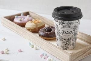 咖啡甜品牌样机模板 Coffee Doughnut Mockup插图2