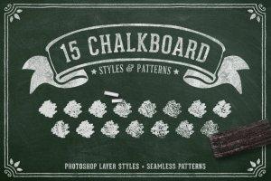 创意粉笔黑板画组件图层样式 Chalk & Charcoal Effects Volume 1插图1