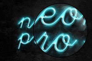 霓虹灯字体文本图层样式 Neon Pro text effect插图4