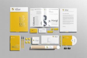 企业品牌VI办公用品样机设计模板V3 Branding-Stationery Mockups V3插图6