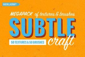 复古效果细微尘埃微粒纹理肌理PS笔刷 Subtlecraft – textures and brushes插图(1)