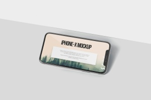 iPhone X智能手机多角度屏幕预览样机模板 iPhone X Mockup插图6
