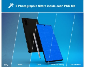 三星大屏手机Note 10屏幕预览样机模板 Note 10 Mockup插图8