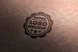 Logo品牌商标真皮印章效果样机v3 Leather Stamp Mockup Vol.3插图1