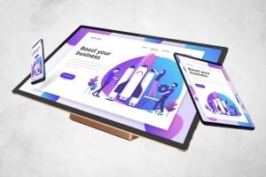 跨平台设计项目展示样机合集 Responsive Screens Mockup插图5