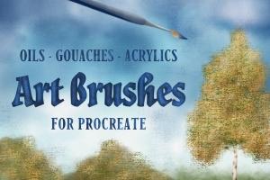 油画水彩画插画师必备Procreate美术画笔笔刷 Art Brushes for Procreate插图(1)