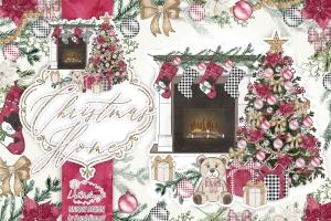 圣诞节客厅装饰剪贴画PNG素材 Christmas Home design插图1