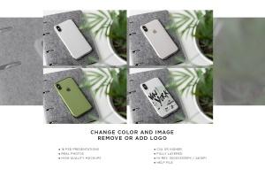 iPhone Xs透明手机壳外观设计效果图样机v2 iPhone Xs Clear Case Mock-Up vol.2插图14